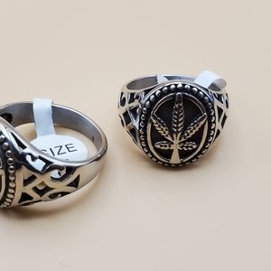 Leaf rings stainless steel